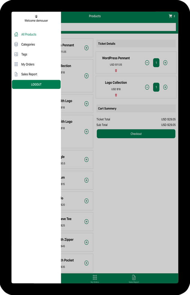 WooCommerce Point of Sale (POS) Android iOS apps using Ionic 5 Angular - 12